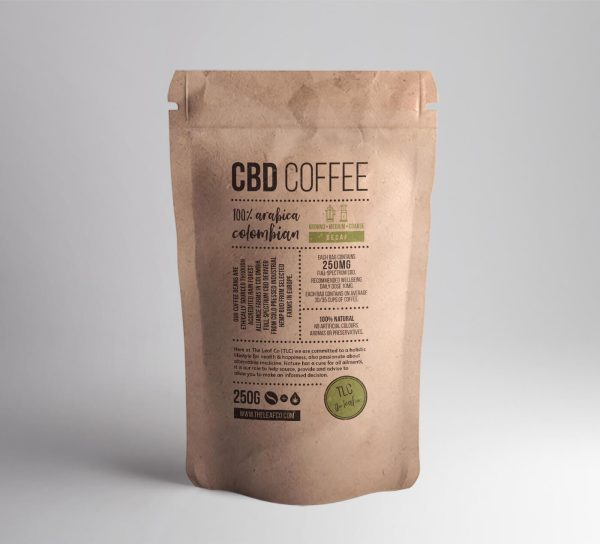 Buy CBD Infused Coffee - Medium Ground - Decaf - UK